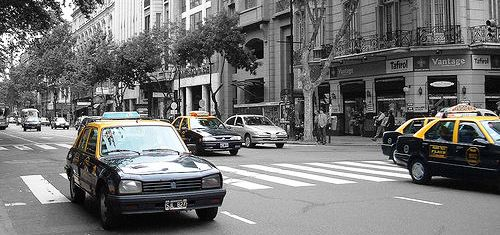 Taxis in Buenos Aires courtesy of Diego3336's Flickrstream