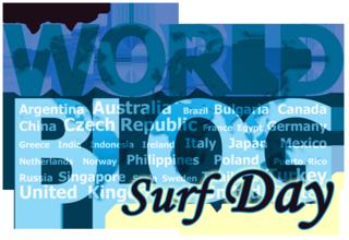 World Blog Surf Day Logo