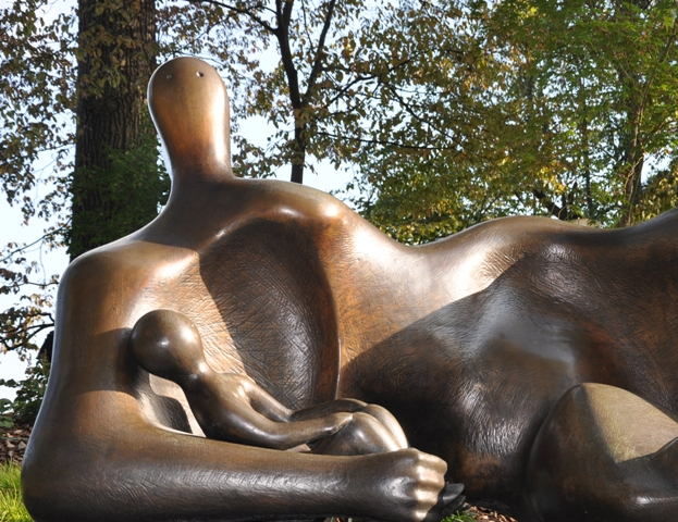 Draped Reclining Mother and Baby 1983 [2]