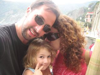 The three of us in Cinque Terre, Italy