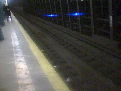 Waiting on the subway platform